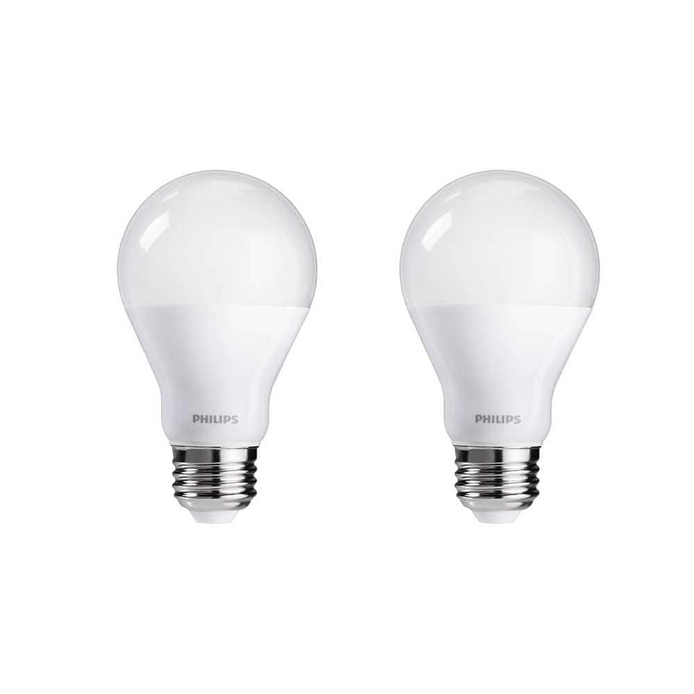 Used - Like New: Philips LED Dimmable A19 Soft White Light Bulb with Warm Glow Effect 800-Lumen, 2700-2200-Kelvin, 6.5-Watt (60-Watt Equivalent), E26 Base, Frosted, 2-Pack $3.85