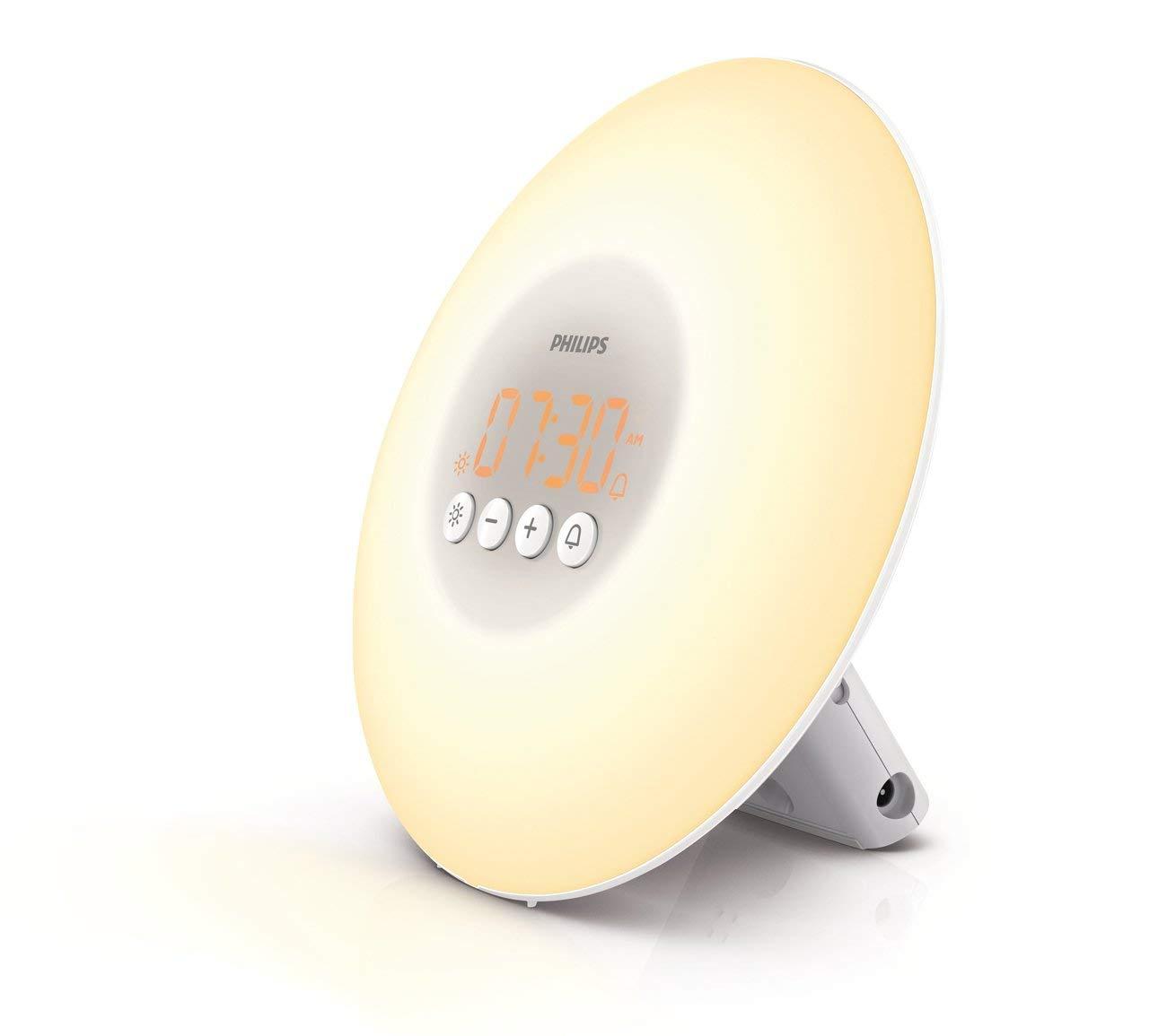Philips Wake-Up Light Alarm Clock with Sunrise Simulation, White