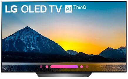 """LG B8 55"""" OLED 4K HDR Dolby Atmos Smart TV with AI ThinQ OLED55B8PUA - $999 Micro Center"""