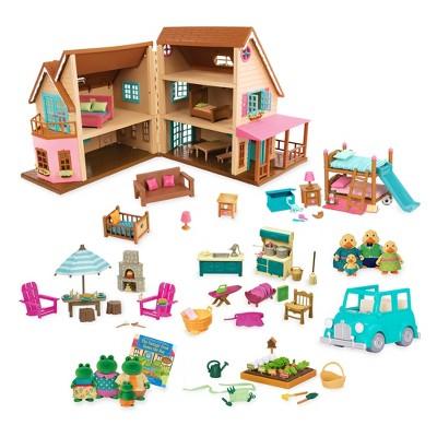 Li'l Woodzeez Toy House With Accessories 127pc - Honeysuckle Hillside Cottage : Target $59.99