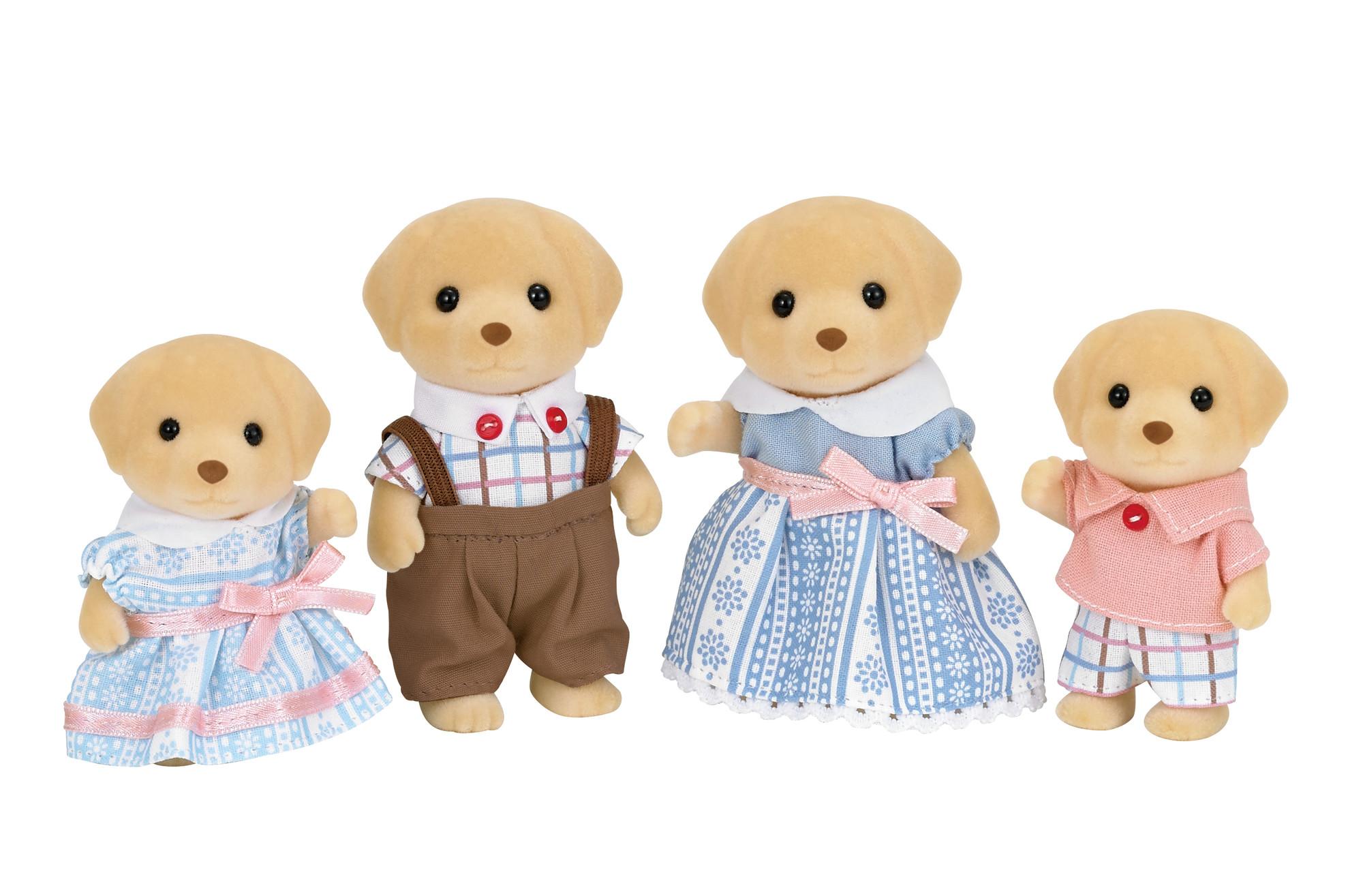 Calico Critters Yellow Labrador Family, Set of 4 Collectible Doll Figures - Walmart.com - Walmart.com $9.99