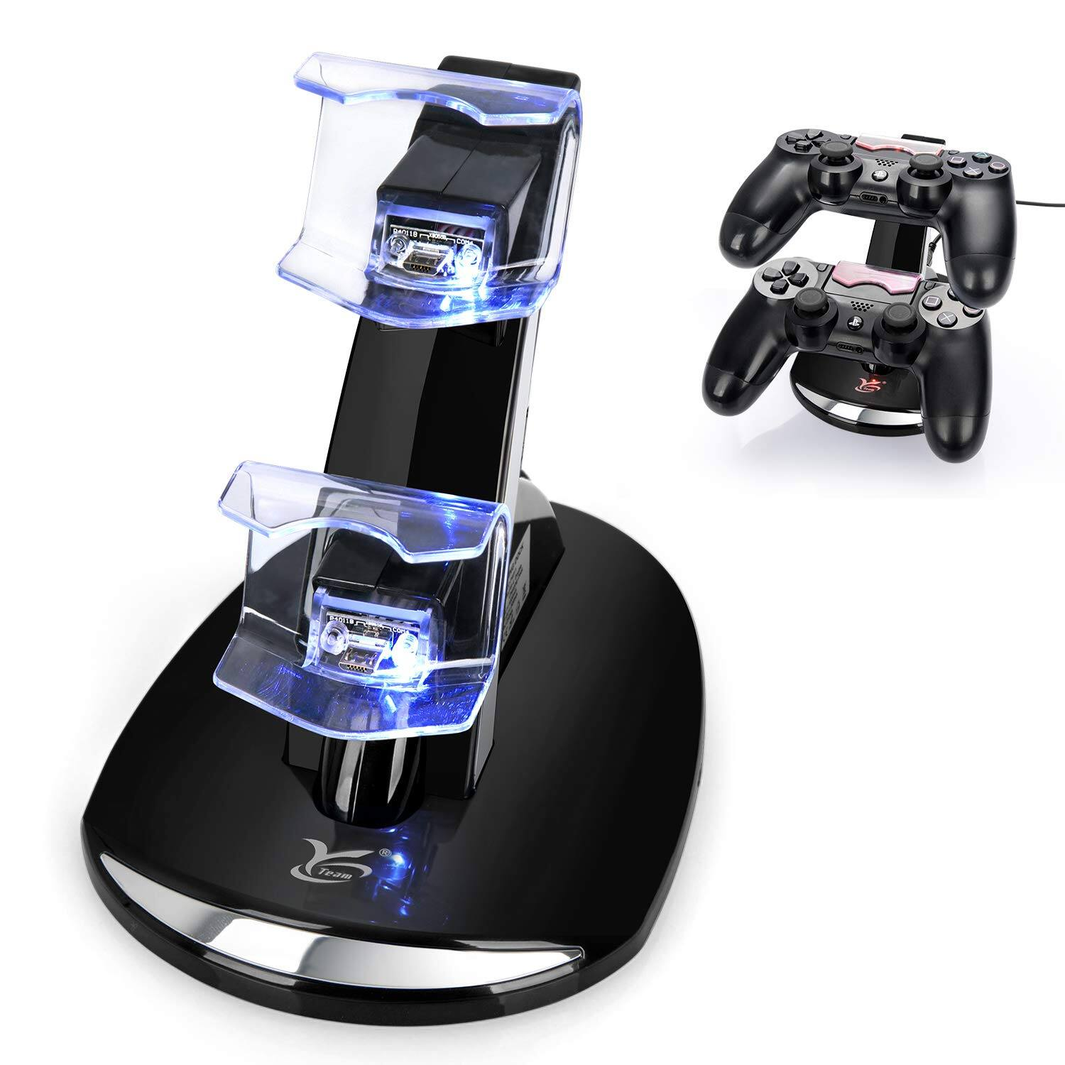 PS4 Controller Charger, Y Team Playstation 4 / PS4 / PS4 Pro / PS4 Slim Controller Charger Charging Docking Station Stand for $6.99@amazon