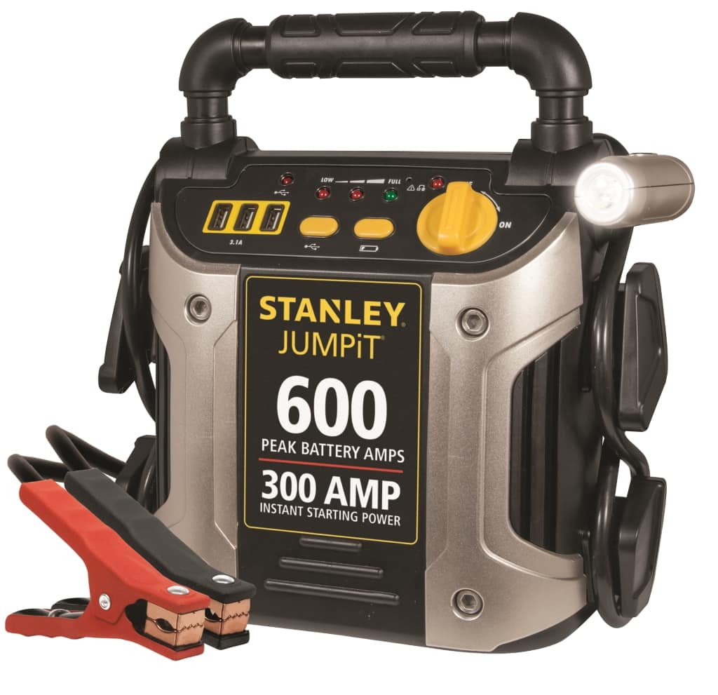 STANLEY J309 Power Station Jump Starter: 600 Peak/300 Instant Amps with Battery Clamps $9