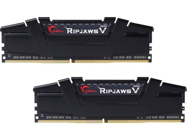 G.SKILL Ripjaws V Series 16GB (2 x 8GB) 288-Pin DDR4 SDRAM DDR4 3000 (PC4 24000) Intel Z170 Platform Memory Kit Model F4-3000C15D-16GVKB $159.99