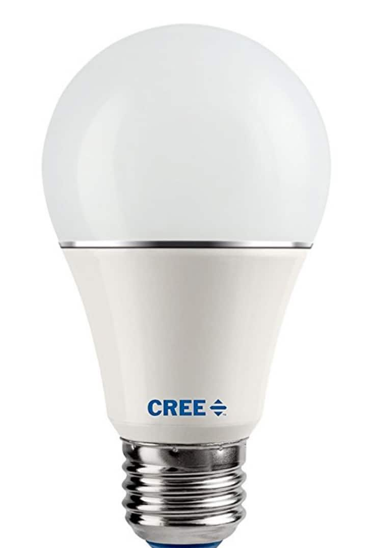 Cree SA19-08127MDFD-12DE26-1-14 Led 60W Replacement A19 Soft White (2700K) Dimmable Light Bulb (4-Pack) $7.97