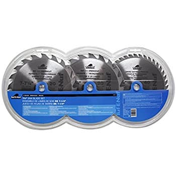 "Task Tools 7 1/4"" Carbide Saw Blade (3 Pack) $7.65 @Amazon"