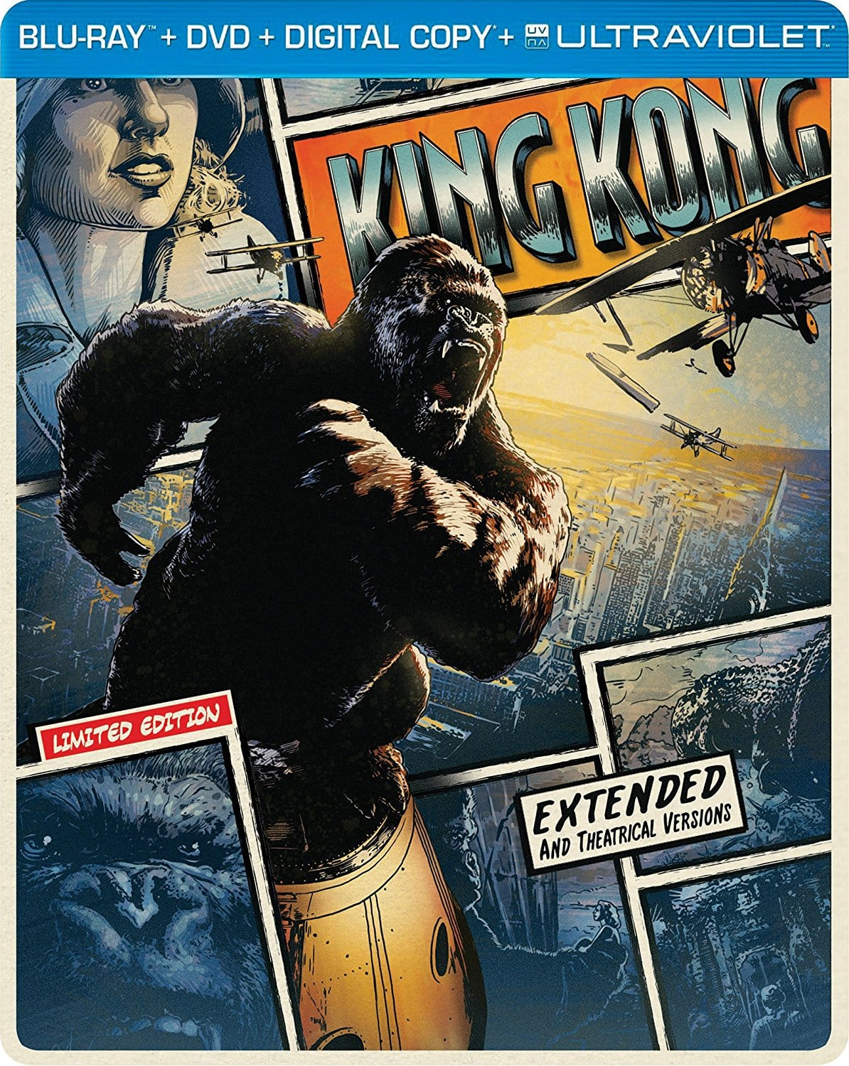 King Kong Limited Edition Steelbook (Blu-ray+Dvd+Digital+Ultraviolet) $8 @Amazon