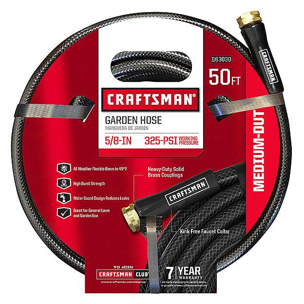 "Craftsman CM-IFMD Medium Duty 5/8"" x 50' Garden Hose $10 @Sears"