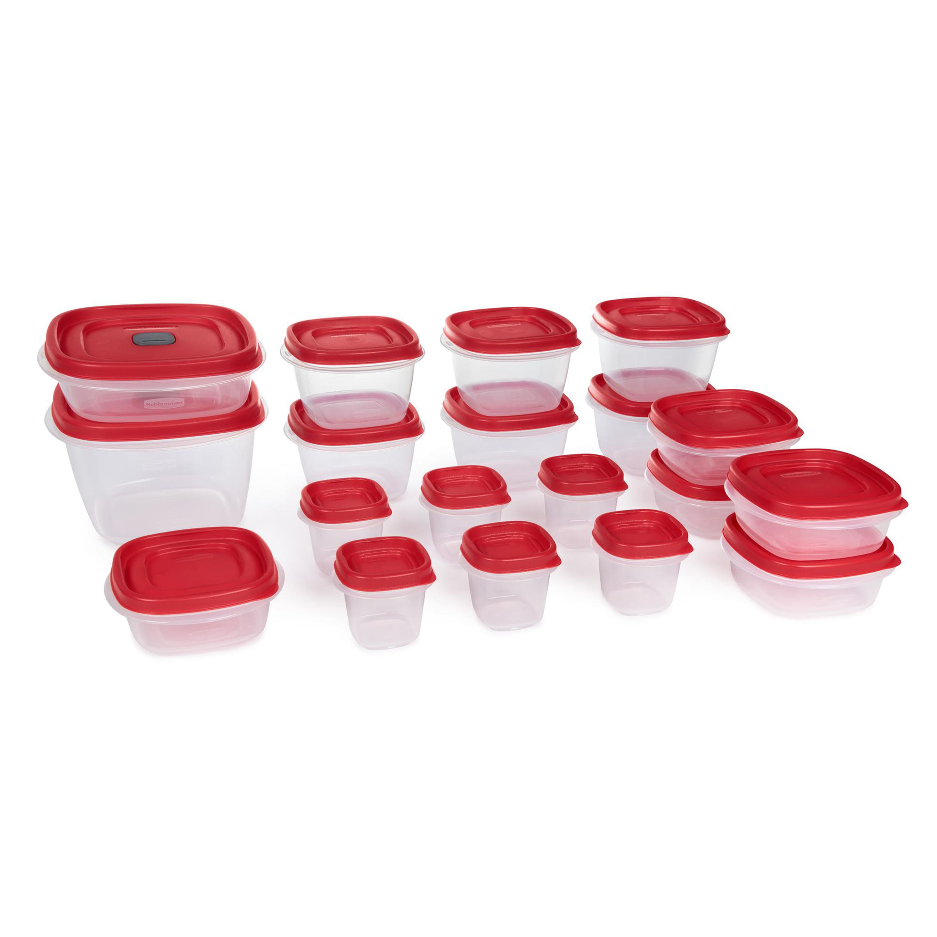 Rubbermaid Food Storage Containers, Set of 19 (38 Pieces Total) $1.50 @Walmart YMMV