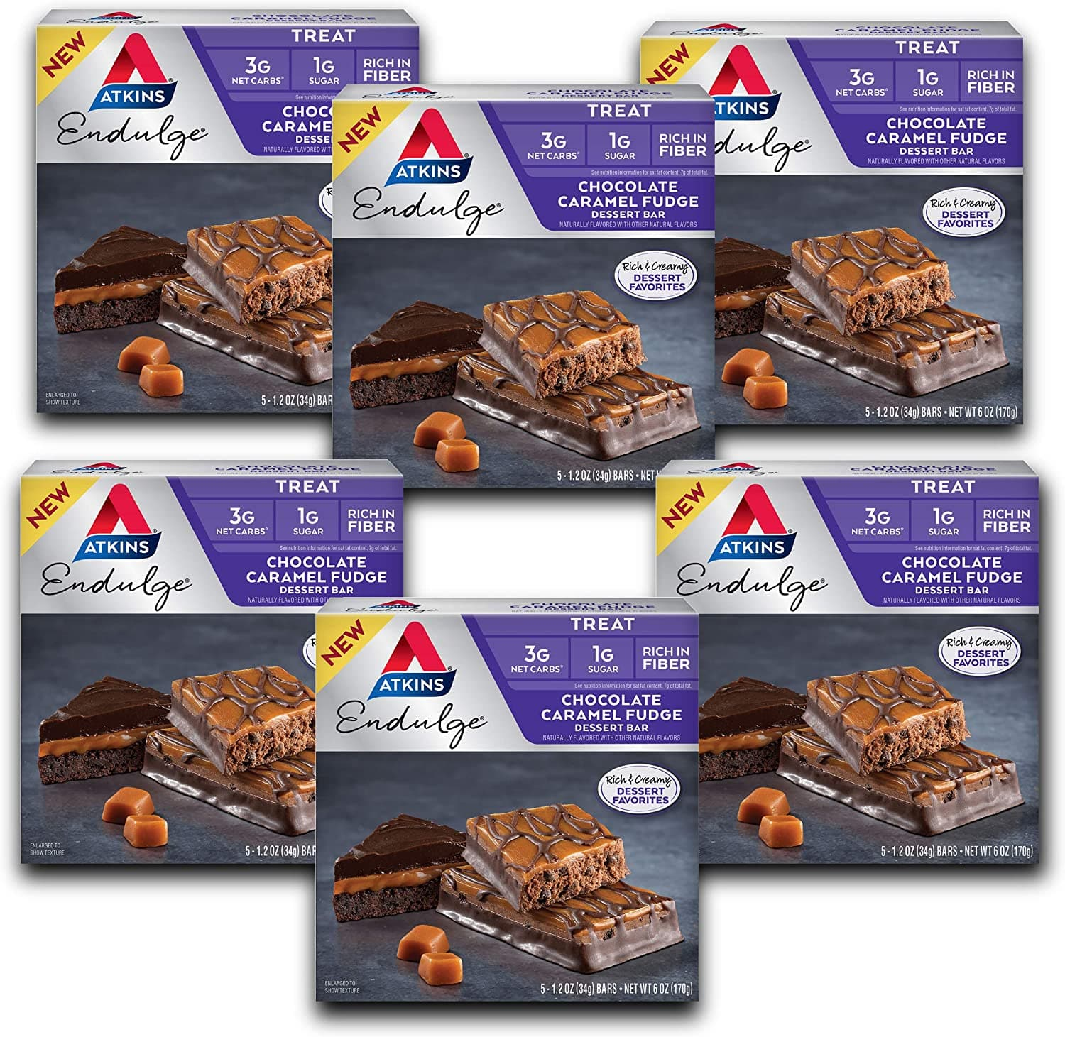 Atkins Endulge Treat Chocolate Caramel Fudge Dessert Bar (30 Bars) $12.77 @Amazon