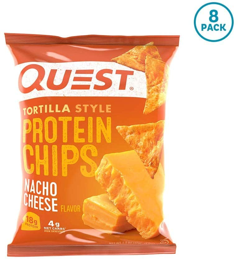 8-Pack 1.1-Oz Quest Nutrition Tortilla Style Protein Chips (Nacho Cheese) $9.35 w/ S&S + Free S/H
