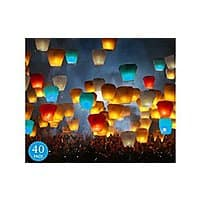Amazon Deal: 40-Pack Original Flame Retardant Sky Lanterns - Fully Assembled and 100% Biodegradable - $25.87 With Free Shipping From Amazon