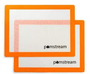 Pomstream 2-Pack Silicone Baking Mat 15x11 $11.45 +FSSS!