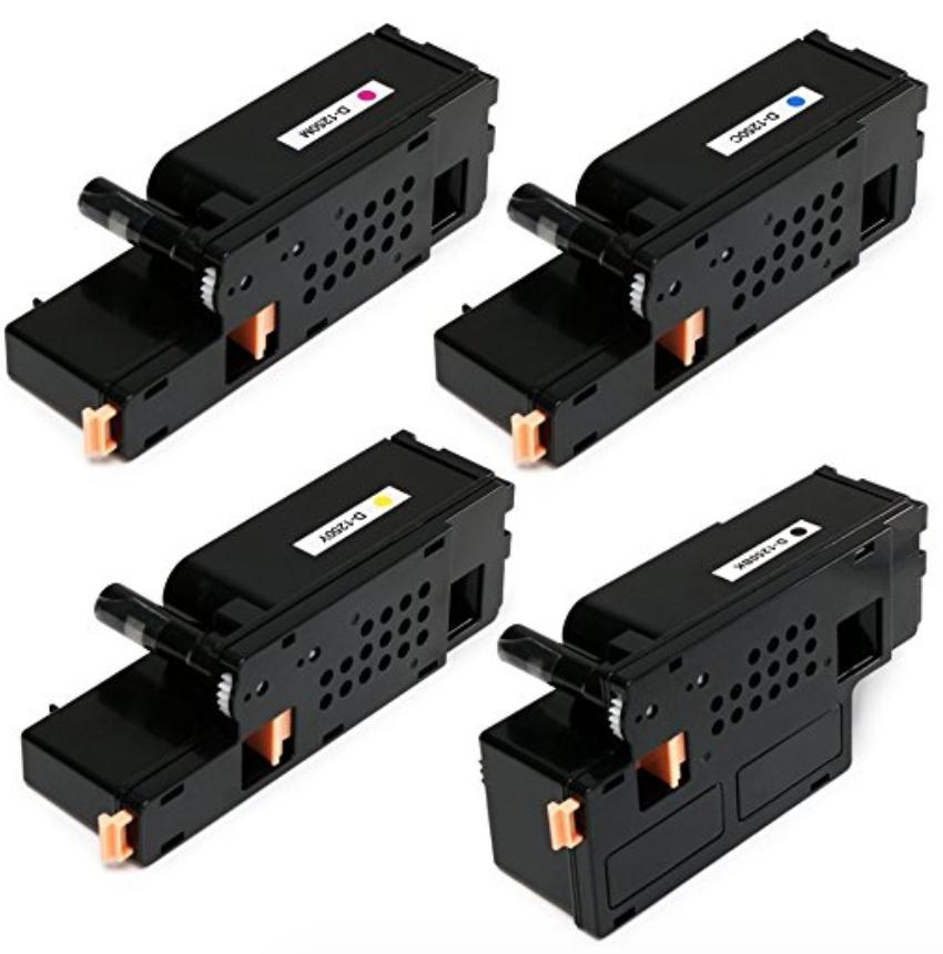 Dell Toner Cartridge Refills (Color+Black) for 1250c/1350cnw/1355cn/1355cnw/C1760nw/C1765nf/C1765nfw Printers - Amazon $11.19