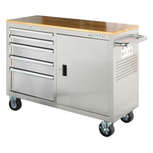 "Stainless Steel Husky 46"" 5 drawer Tool Box Cart on wheels at Home Depot $178 in-store only ($298 online)"