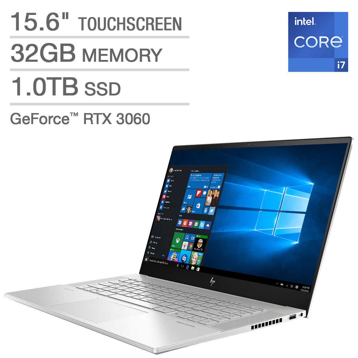 "HP ENVY 15.6"" Touchscreen Laptop - 11th Gen Intel Core i7-11800H - GeForce RTX 3060 - 1080p - Windows 10 Professional $1699"