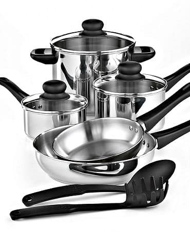 Tools of the Trade Basics Cookware, 10 Piece Set for only $29.. Reg price:$99.99 from Macy