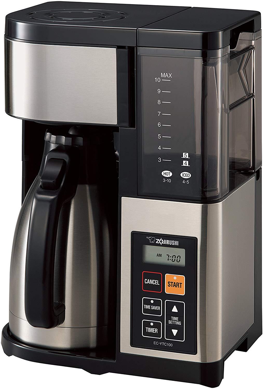 Zojirushi EC-YTC100XB 10-Cup Coffee Maker (Stainless Steel/Black)