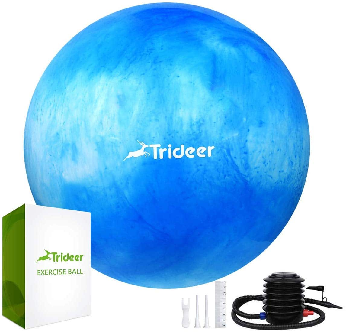 Trideer Exercise Ball (Multiple Color) for $6.49+FS