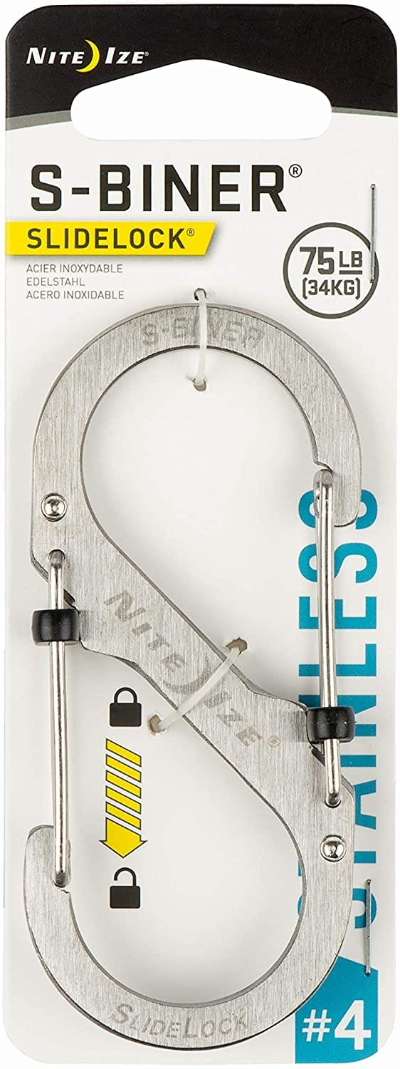 Nite Ize Dual Locking Carabiner, Size #4, Stainless-@ Amazon for $2.98 F/S W Prime.