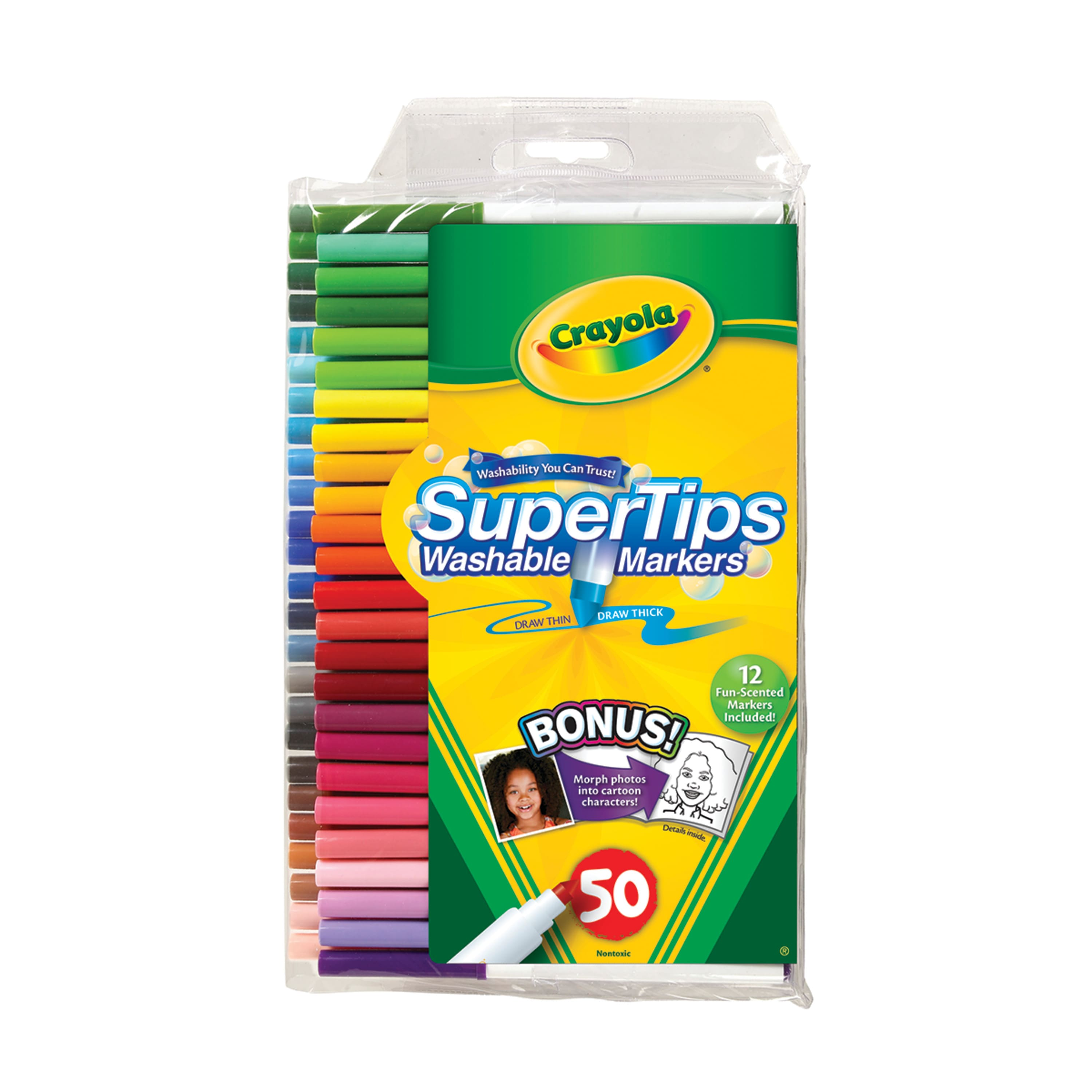 Crayola Super Tips Markers, Washable Markers, Gift, 50 Count (list $12.99) $6.97