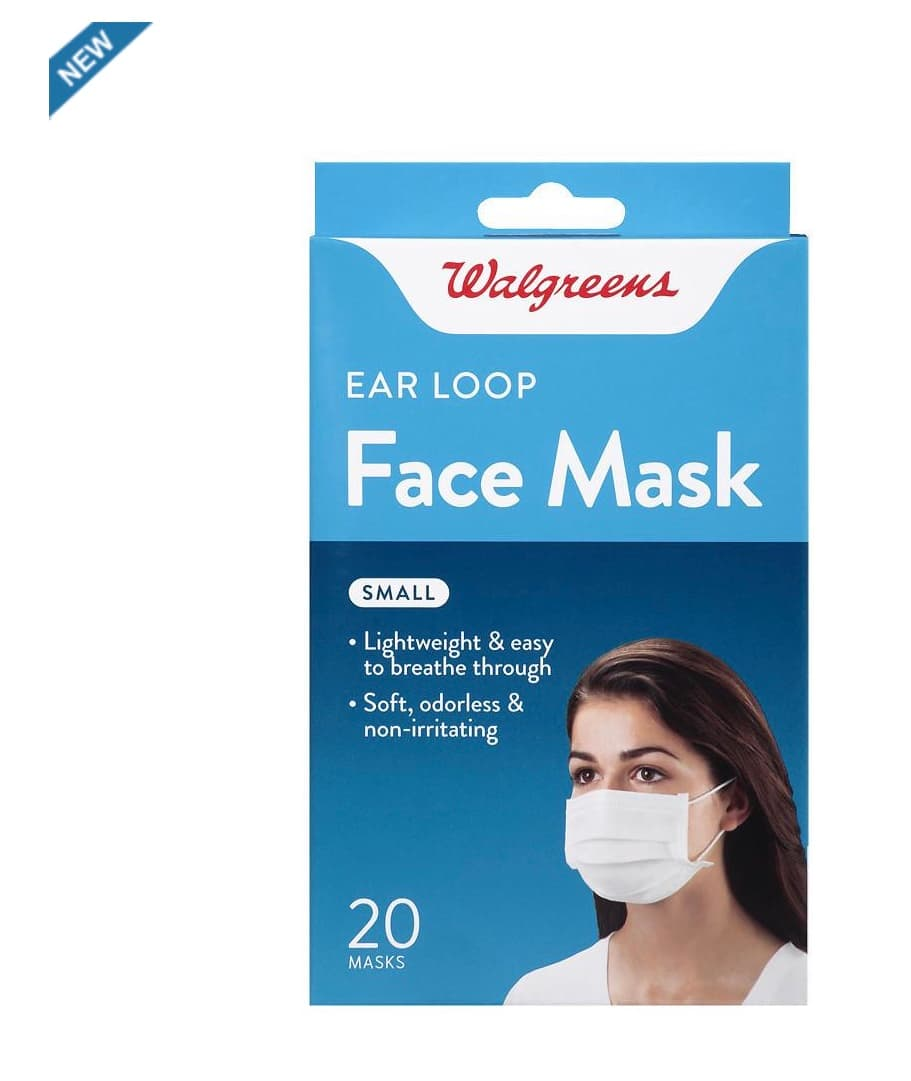 Walgreens Earloop Face Masks Small 20 ct ea $8.79
