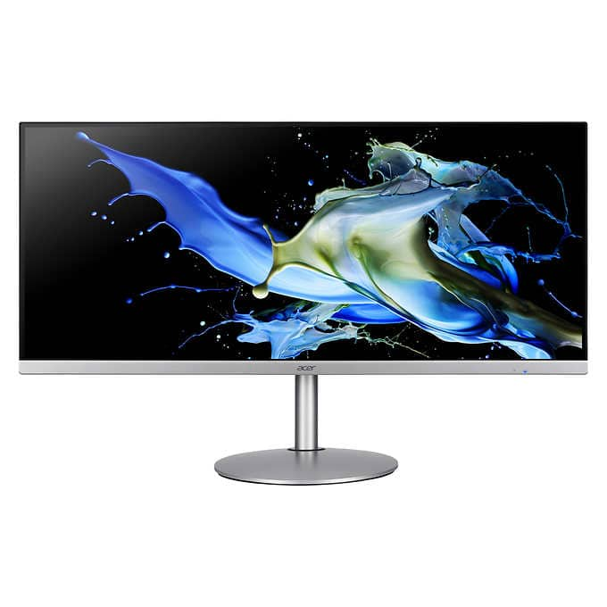 Acer 34in Class QHD IPS FreeSync Monitor 3440 x 1440 Resolution 75 Hz Refresh $350