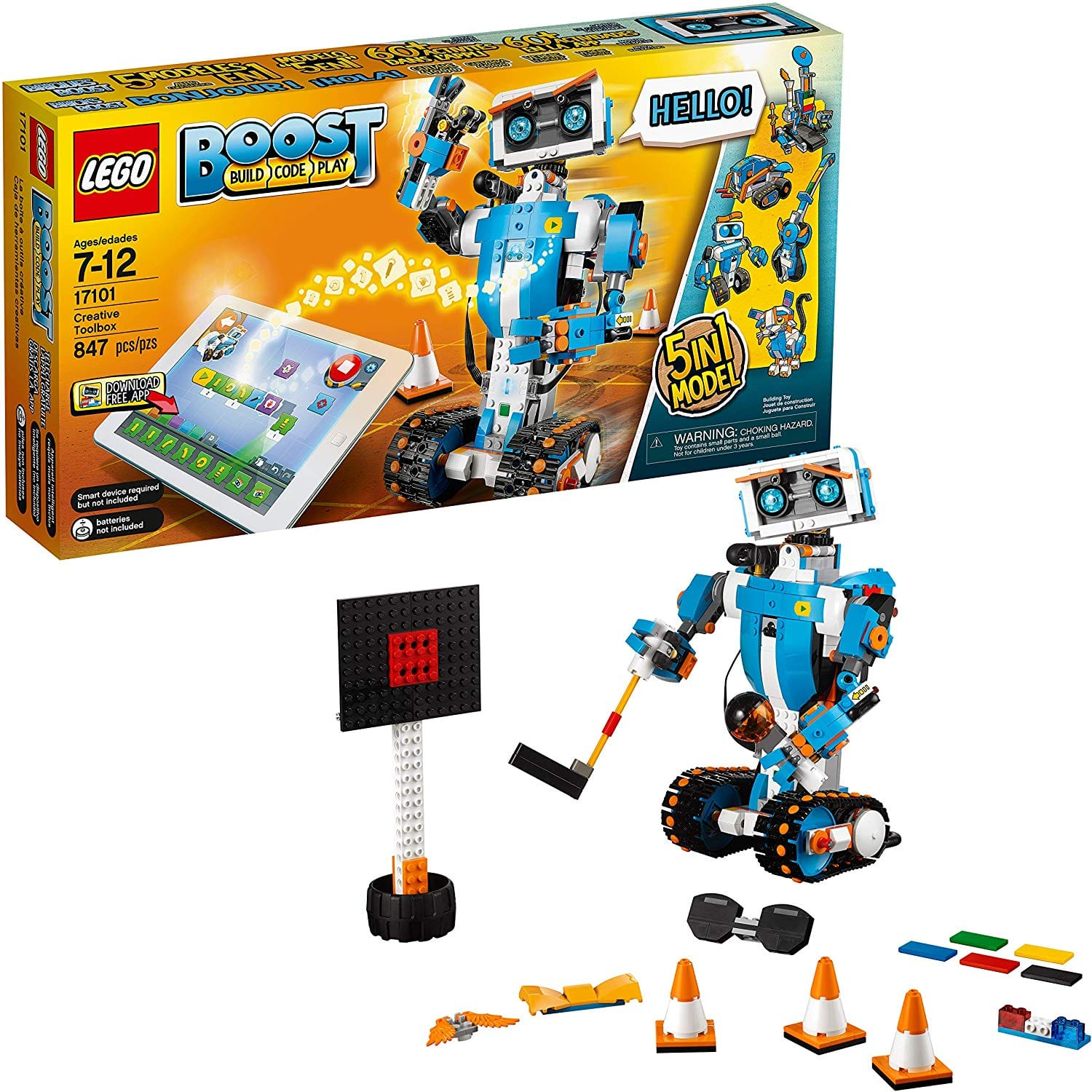 LEGO Boost Creative Toolbox 17101 Fun Robot Building Set and Educational Coding Kit for Kids, Award-Winning STEM Learning Toy (847 Pieces) $111.99