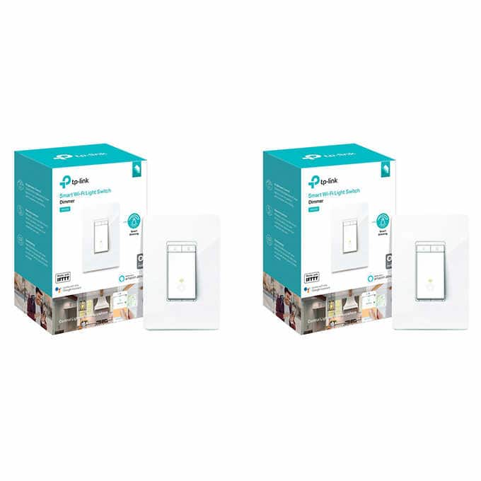 TP Link Smart Dimmer Switch, 2-pack $49.99