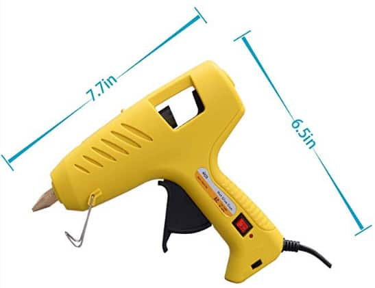 Hot Glue GUn 100W 16Pcs Transparent Glue Gun Stick $11.99