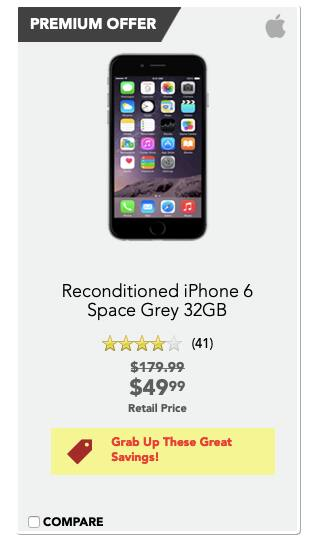 Reconditioned iPhone 6 Space Grey 32GB $49.99