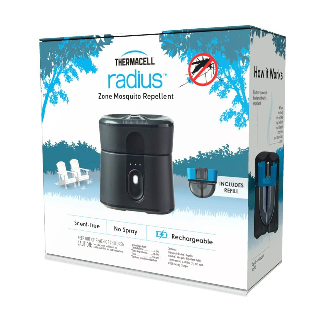 Thermacell Radius Zone Mosquito Repellent- $37.79 after coupon + Prime