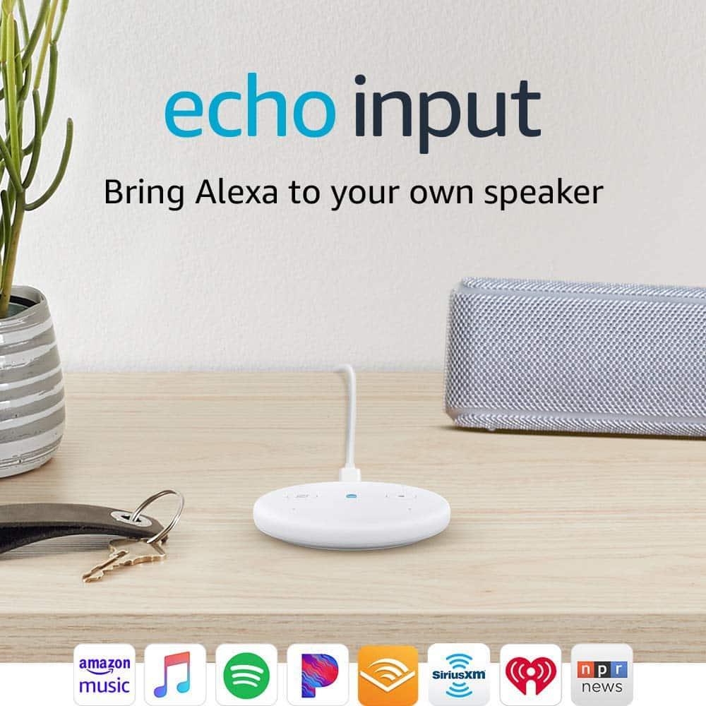 Amazon Echo Input White $10 or Black (instock March 10) $10 - FS with Prime