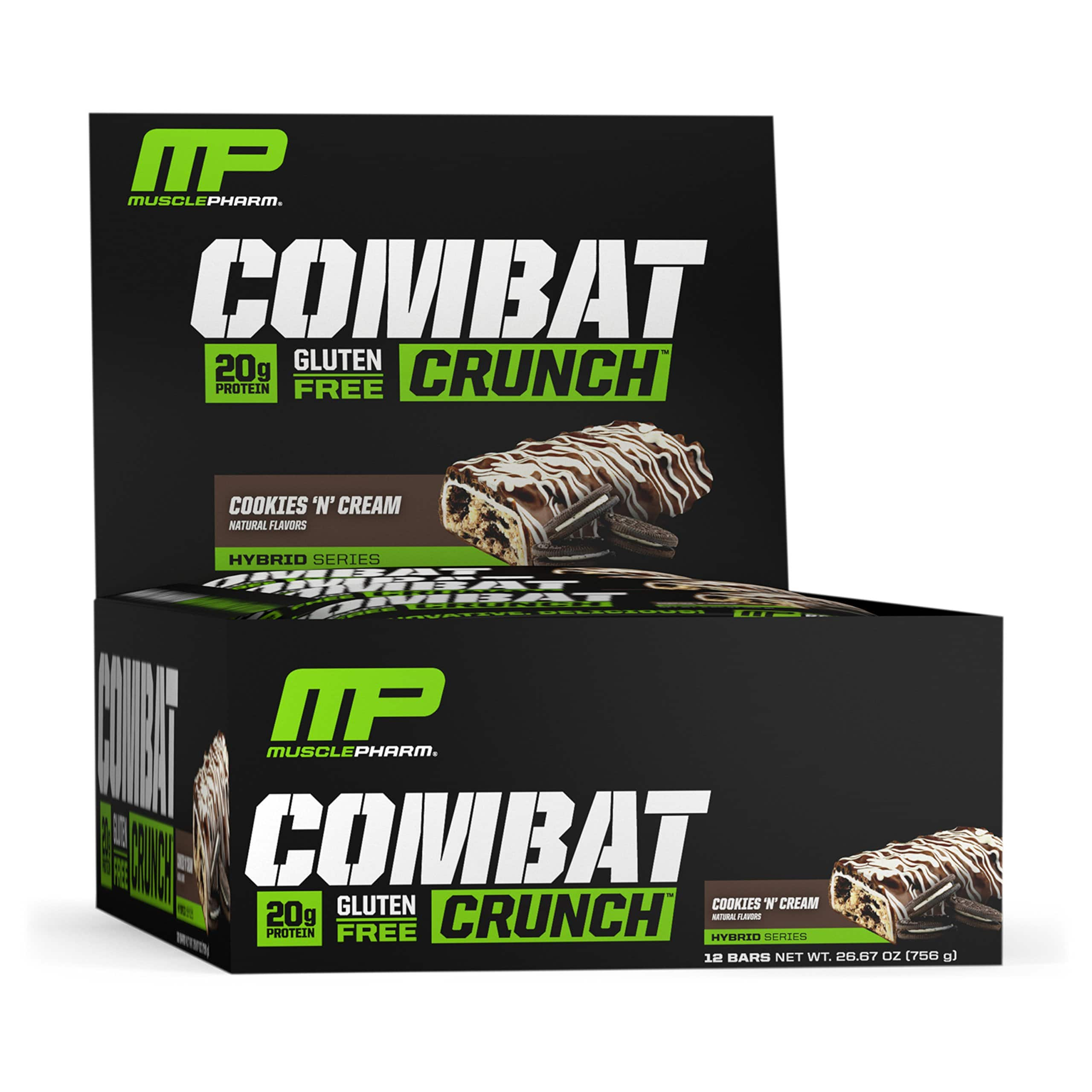MusclePharm Combat Crunch Protein Bar, Chocolate Cake 12-pack $14.98