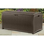 Suncast DBW7300 Mocha Wicker Resin Deck Box, 73-Gallon - Amazon - $50.39 -FS