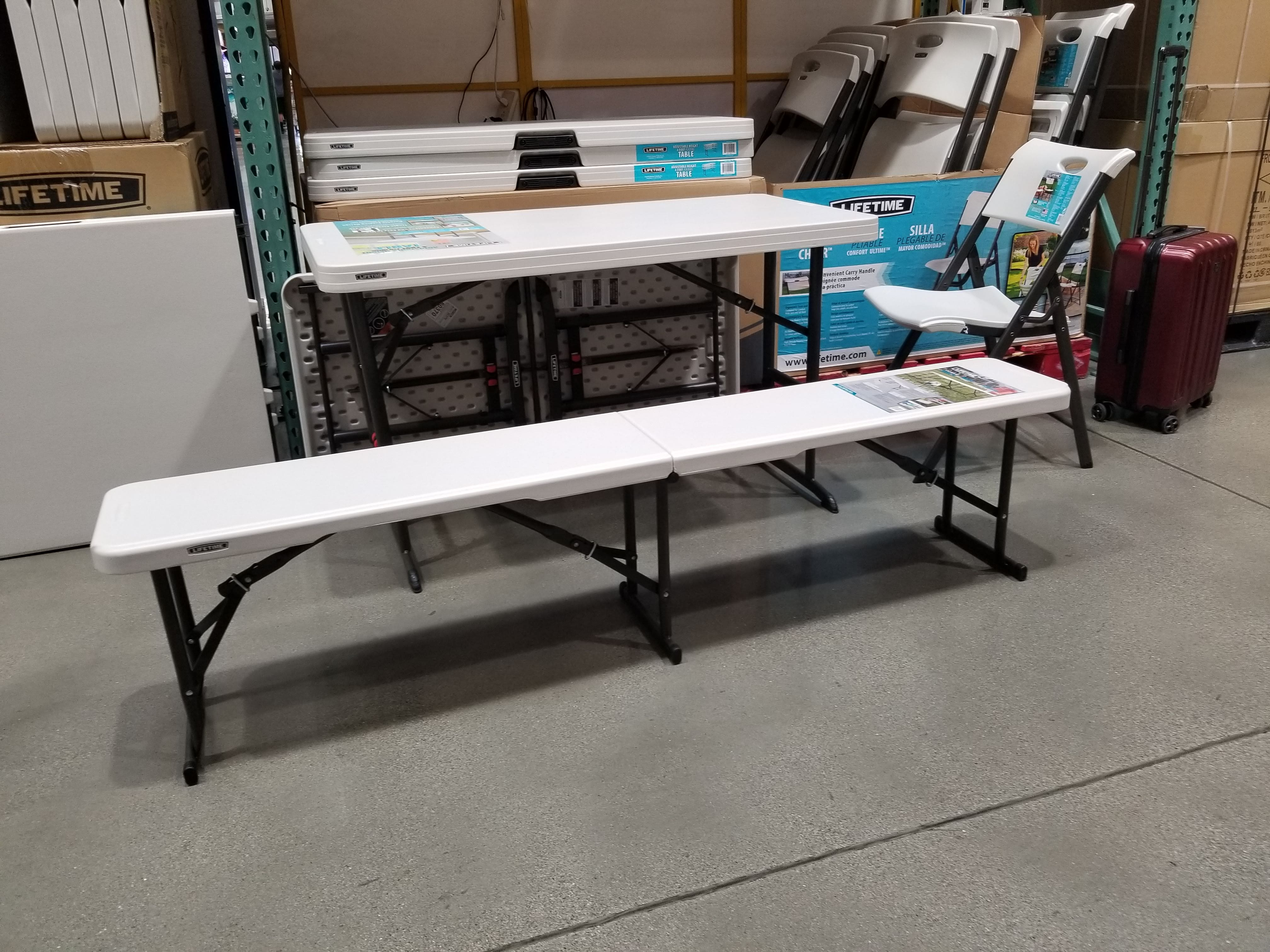 Lifetime 6' foot Fold-in-Half Benches (YMMV) Cost $24.97