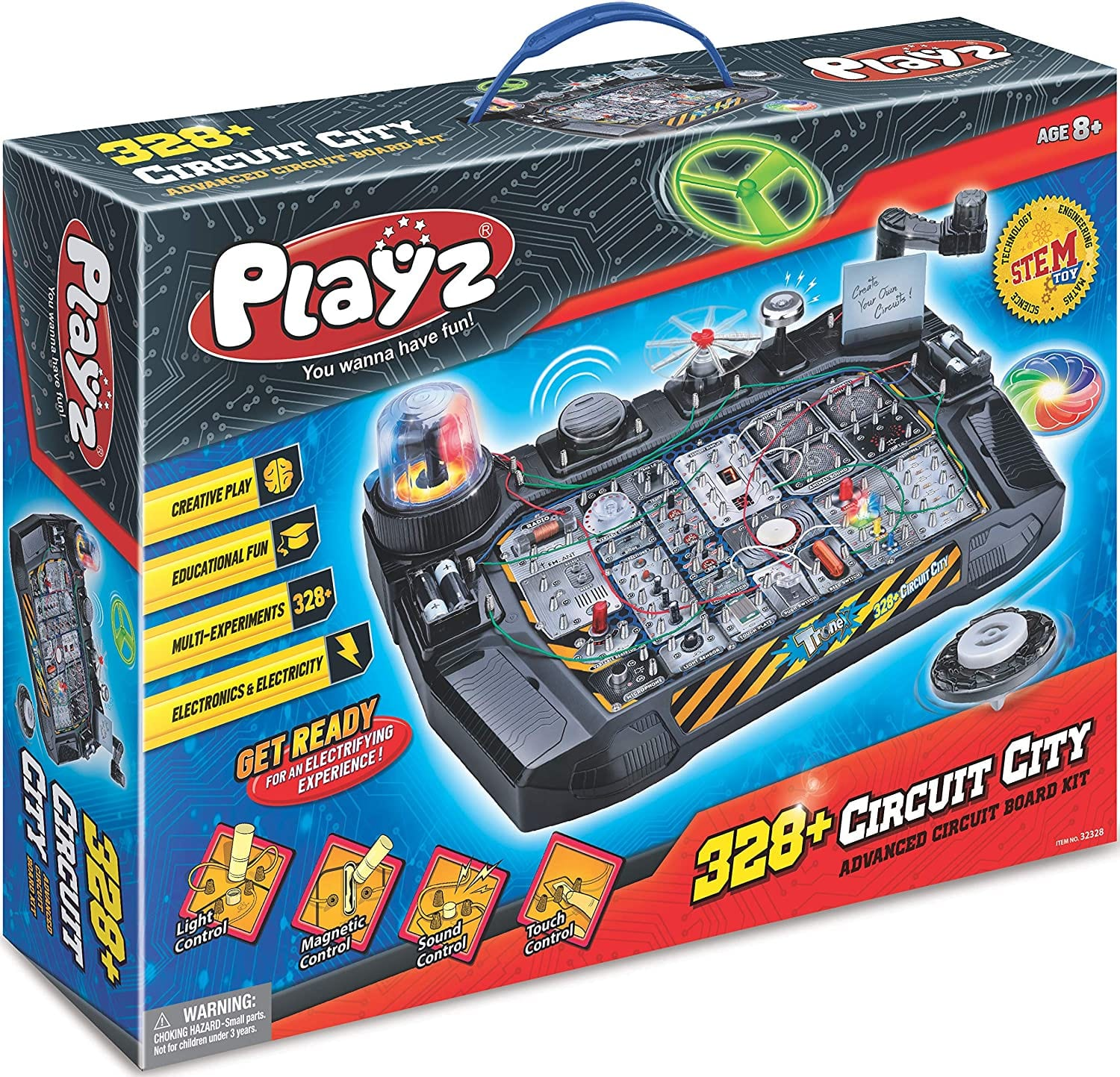Playz Advanced Electronic Circuit Board Engineering Toy for Kids | 328+ Educational Experiments $37.86 including taxes (after clipping extra 50% off coupon)