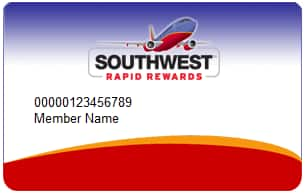 70000 point southwest business card invitation - Southwest Business Card