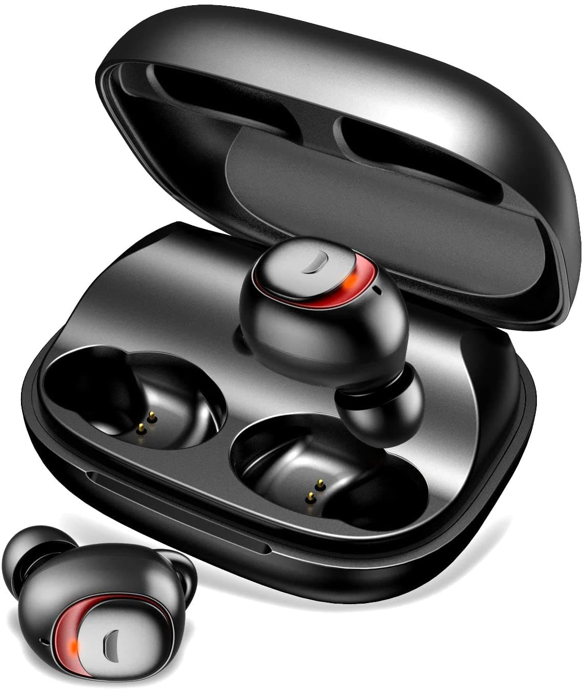 TECKEPIC True Wireless Earbuds $19.97 + free shipping