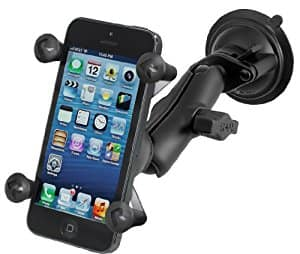Ram Mount Twist Lock Suction Cup Mount with Universal X-Grip Cell Phone Holder,  Free Prime Shipping, $32.99