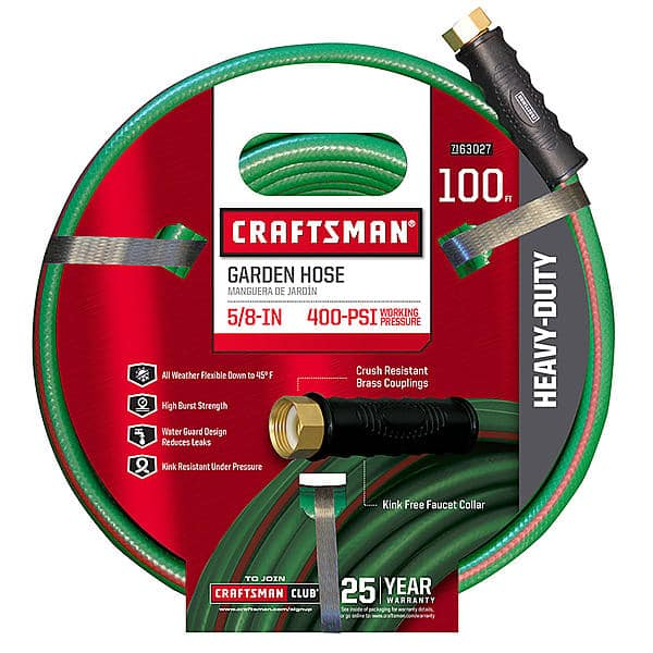 """Craftsman Heavy Duty 5/8"""" x 100' Garden Hose for $24.99 + Free Store Pick Up @ Sears"""