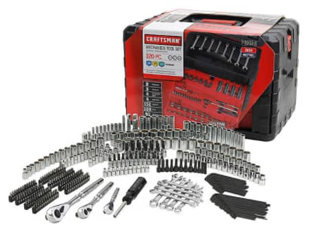 Craftsman 320-Piece Mechanic's Tool Set for $179.99 + $53.99 in SYWR Points