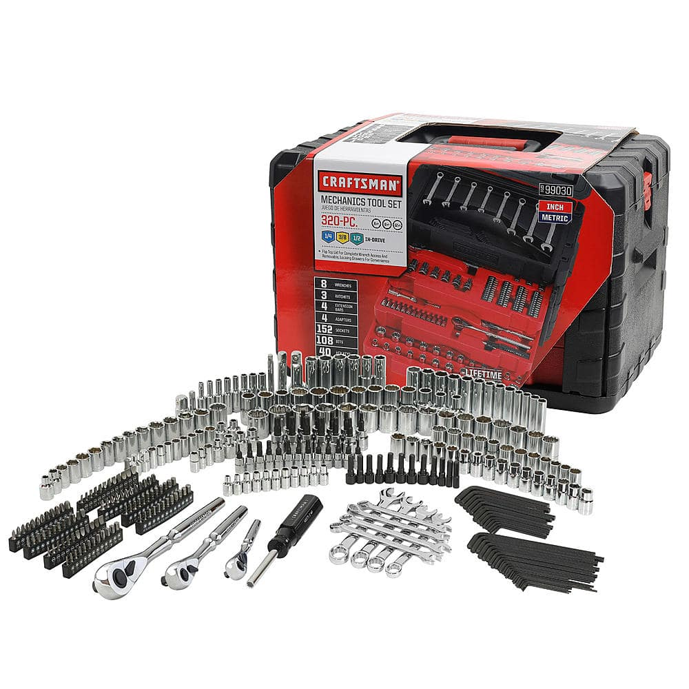 Craftsman 320-Piece Mechanic's Tool Set with a 3 Drawer Case for $149.99 + $44.99 in SYWR Points + Free Delivery