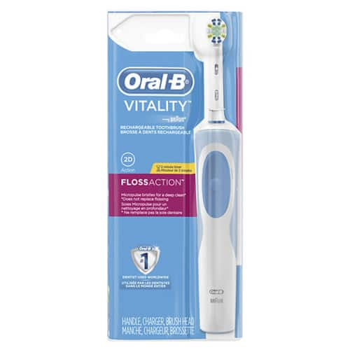 Walgreens has Oral-B Vitality FlossAction Rechargeable Electric Toothbrush w/ Automatic Timer  for $15.99 - $5 clippable coupon = $10.99. Free Store Pick Up