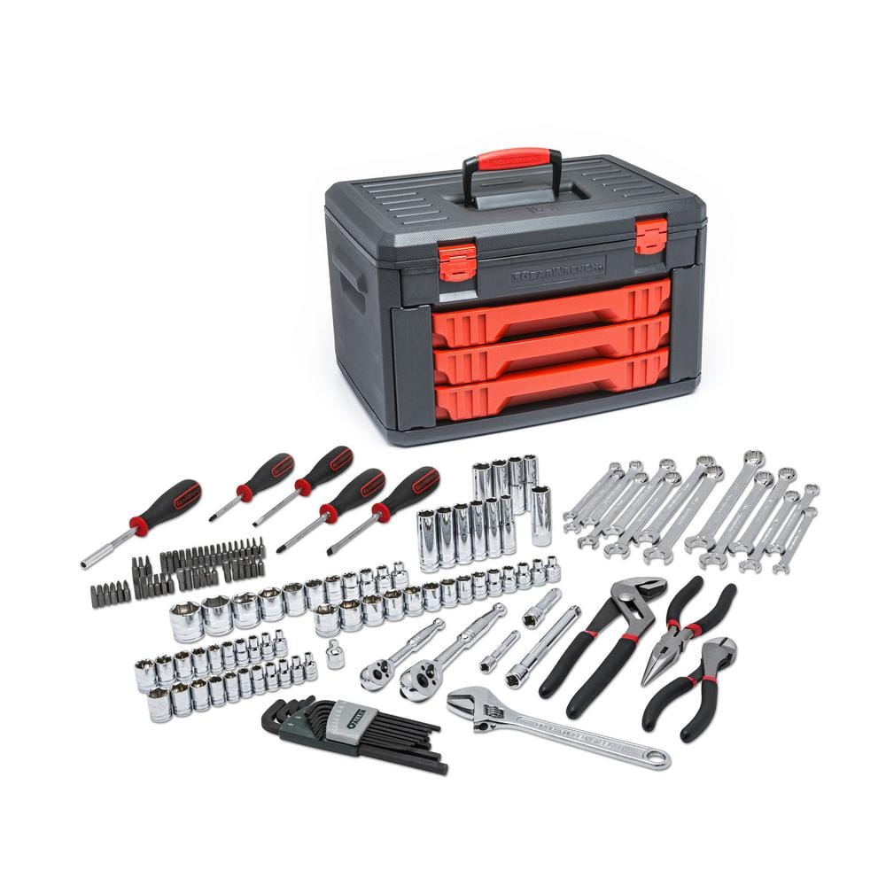 GearWrench #80938 - 1/4 in. and 3/8 in. Drive Mechanics Tool Set (143-Piece) - $75.11