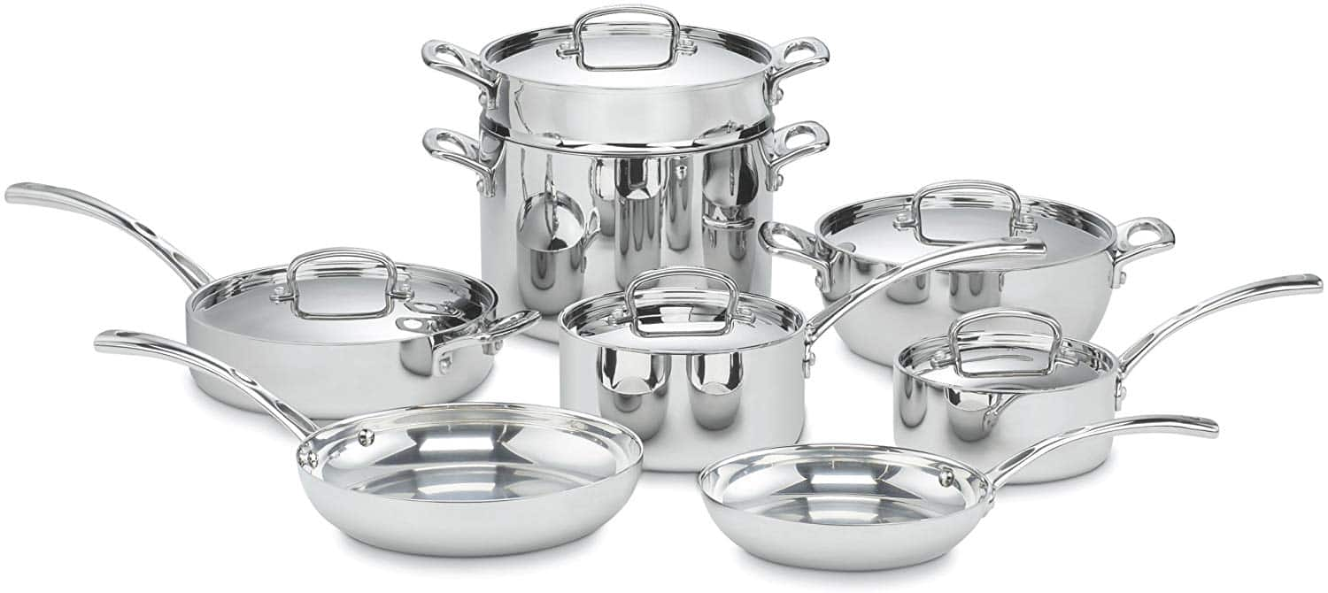 Cuisinart FCT-13 French Classic Tri-Ply Stainless 13-Piece Cookware Set, Silver - $270 + FS (Amazon)