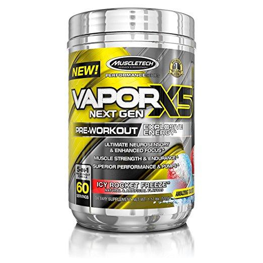 MuscleTech Performance Series Vapor X5 Next Gen Pre-Workout Powder, 60 servings $19.11