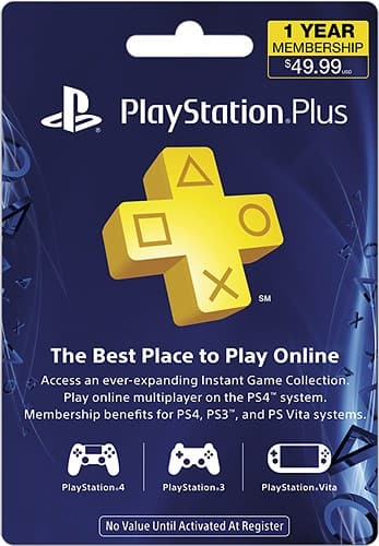 Playstation Plus 12-month subscription - $44.99 with Best Buy GCU