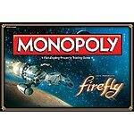 Amazon: Firefly Edition Monopoly Board Game $28.36 w/Free Prime Shipping or FSSS