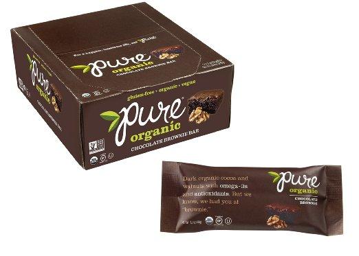 Amazon: Pure Bar Organic Chocolate Brownie, Fruit & Nut Bar, 1.7-Ounce Bars (Pack of 12) $5.41 - $6.36